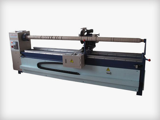 Automatic cnc slitting machine with long fabric roll