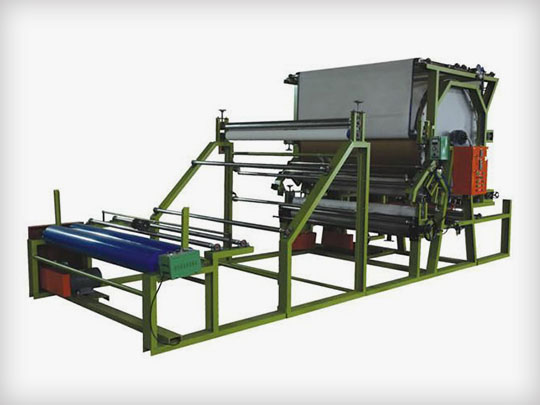 Vertical net belt laminating machine